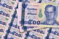Five hundred baht stock image
