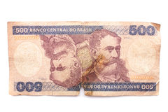 Five hundred Cruzeiros - Old Brazilian bill Stock Photography