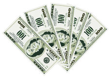 Five Hundred Dollar Bills Stock Photography
