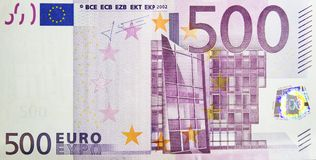 Five hundred euro banknote royalty free stock photo