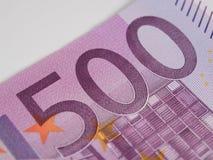 Five hundred euro banknote macro Royalty Free Stock Photo