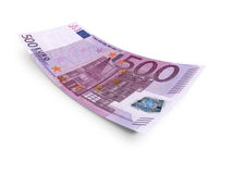 Five hundred euro. Banknote on white background Royalty Free Stock Images