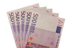 Five Hundred Euro Banknotes Stock Photo