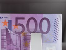 Five hundred euro banknotes in a counting machine Stock Photography