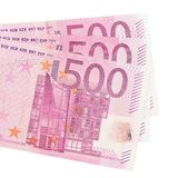 Five hundred euro banknotes. Five hundred euro banknotes isolated on white background Royalty Free Stock Photography