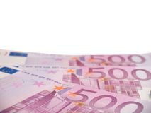 Five hundred euro banknotes isolated on white Stock Photography