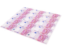 Five hundred euro banknotes. Royalty Free Stock Photography