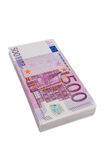 Five hundred euro banknotes. Many of five hundred euro bills. photo icon for wealth and investment Royalty Free Stock Image