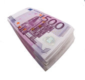 Five hundred euro banknotes Royalty Free Stock Photo
