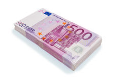 Five hundred euro banknotes. Many of five hundred euro banknotes. symbolic photo for wealth and investment Royalty Free Stock Image