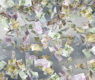 Five hundred euro bills Royalty Free Stock Photo