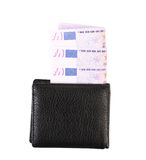 Five hundred euro bills in purse. Stock Photo
