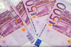Five hundred euro notes Stock Photos