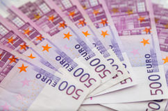 Five hundred euro notes Royalty Free Stock Photo