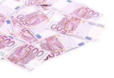 Five hundred euro notes. Royalty Free Stock Images