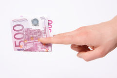 Five hundred euros Royalty Free Stock Photo
