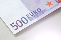 Five Hundred Euros. 500 Euro With One Note. 500 Euro.  Stock Images