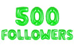 Five hundred followers, green color Royalty Free Stock Image