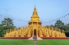 Five hundred golden pagodas in Saraburi, Thailand Royalty Free Stock Photo
