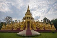 Five hundred golden pagodas. In Thailand Royalty Free Stock Photos