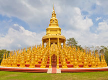 Five hundred pagodas in Wat pasawangboon, Thailand Royalty Free Stock Photo