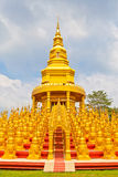 Five hundred pagodas in Wat pasawangboon, Thailand Stock Images