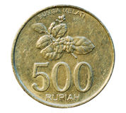 Five hundred rupees. Bank of Indonesia Stock Photography