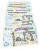 Five hundred Saudi riyals line Royalty Free Stock Photos