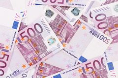Five hundreds euro banknotes Stock Image