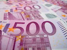 Five hundreds euro notes Royalty Free Stock Photos