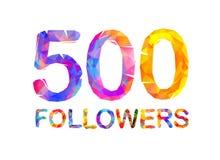 5000 five hundreds followers. Triangular colorful inscription. 5000 five hundreds followers. Vector triangular colorful inscription Royalty Free Stock Photography