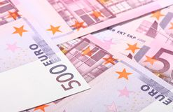 Five-hundredth euro banknotes Royalty Free Stock Photography