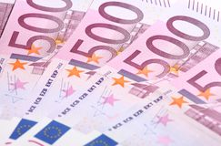 Five-hundredth euro banknotes Stock Image