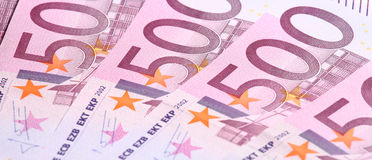 Five-hundredth euro banknotes Stock Photography
