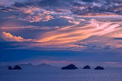 The Five Islands at Koh Samui during the last evening sun royalty free stock photo