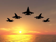 Five Jets Royalty Free Stock Photography
