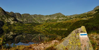 Five Lakes Valley Morning in Tatra Royalty Free Stock Photos
