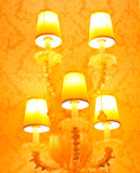 The five lamp shining Stock Image