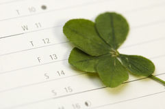 Five Leaf Clover and 13 Friday Royalty Free Stock Images