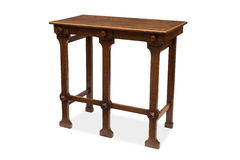 A Five-Legged Antique Wooden Side Table Stock Images
