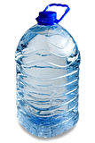 Five liter bottle. Isolated full five liter bottle on white background Royalty Free Stock Images