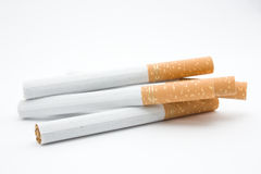 Five loose cigarrets royalty free stock image
