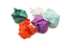 Five lumps of a colour paper Royalty Free Stock Photos