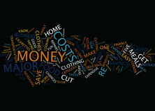 Five Major Ways To Save Money Text Background  Word Cloud Concept Stock Photos