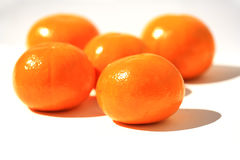 Five Mandarine Stock Photo