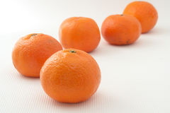 Five mandarins Royalty Free Stock Image