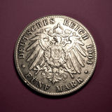 Five mark. German coin 1904 stock photography