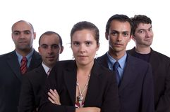 Five member business team Stock Image