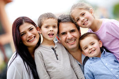 Five member family Royalty Free Stock Photos