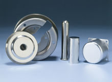 Five Metal Pieces Stock Image